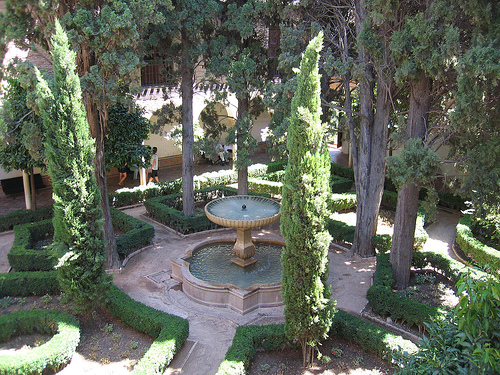 A pretty patio at the Alhambra